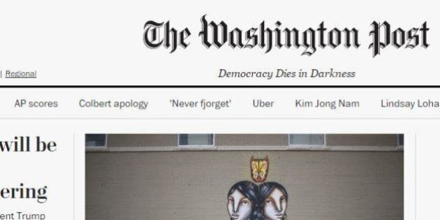 Washington Post aggiunge scritta a testata: