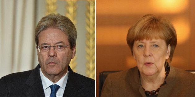 Paolo Gentiloni a Berlino da Angela Merkel con diversi fronti aperti fra Italia e Germania: conti pubblici,...