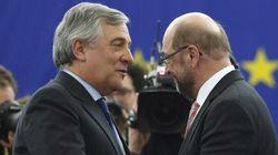 Schulz scherza con Tajani al passaggio di consegne: