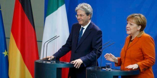 Paolo Gentiloni ad Angela Merkel: