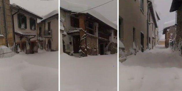 Terremoto, il facebook live di un cittadino da Montereale, paese fantasma ricoperto da neve ed epicentro...