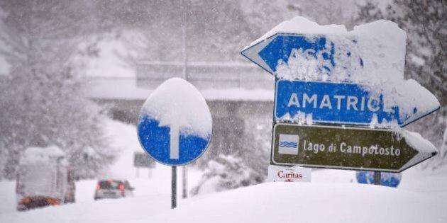 Terremoto: neve, scosse e solitudine ad Amatrice.