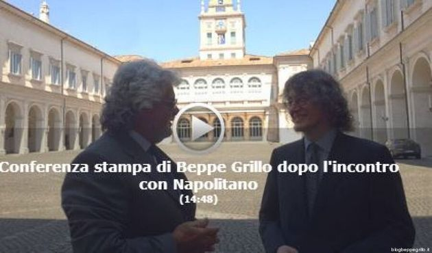 Incontro Grillo Napolitano: il presidente scherza con Gianroberto Casaleggio: