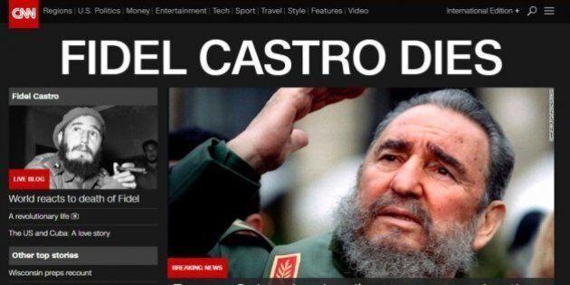La morte di Fidel Castro sui giornali di tutto il mondo