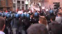 Scontri a Catania dopo l'intervento di Renzi alla Festa