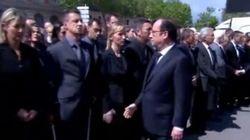 Hollande gli tende la mano, il poliziotto si rifiuta di