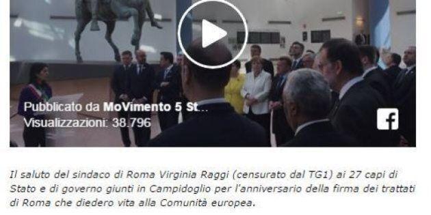 Raggi censurata dalla Rai alle celebrazioni per i 60 anni dei Trattati di Roma: la denuncia di
