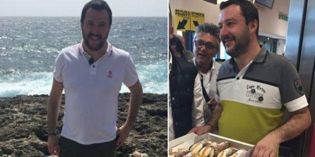 Matteo Salvini a Lampedusa: