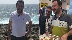Salvini a Lampedusa tra selfie e cannoli.