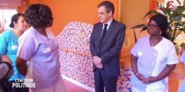 François Fillon colpisce per la freddezza riservata al personale esausto di una casa di