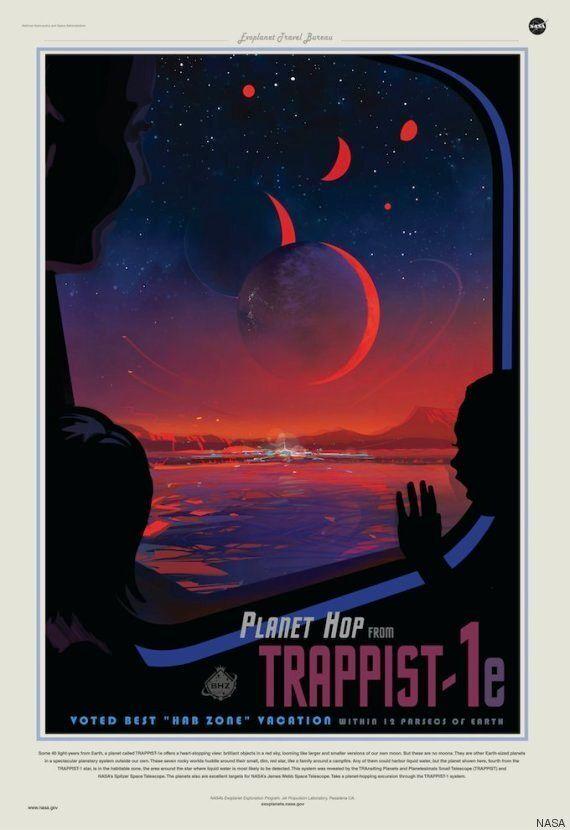 Trappist-1, la NASA realizza una speciale locandina per pubblicizzare il viaggio su Trappist-1e:
