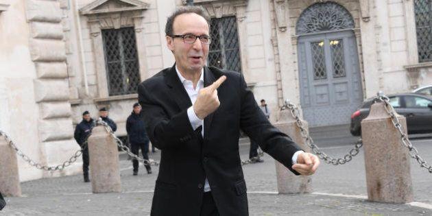 Roberto Benigni da Sergio Mattarella per i David di Donatello: