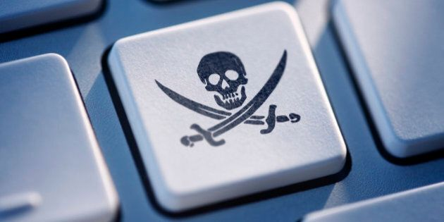 Pirate button on computer