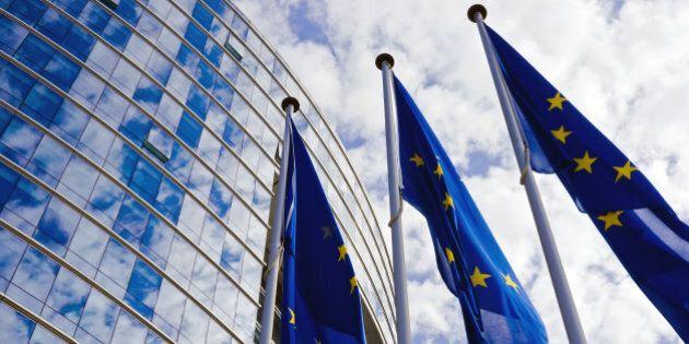 EU Flags at the European Commission