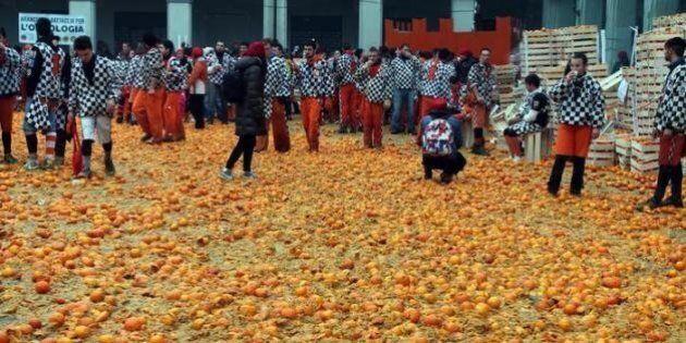 La mafia delle arance. A Ivrea il carnevale è anche