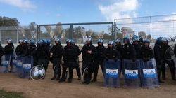 La polizia forza il sit-in contro l'espianto degli ulivi, cariche sui manifestanti No