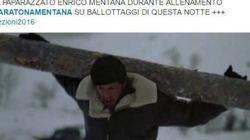 Come si sta preparando Enrico Mentana alla maratona? Su Twitter c'è già la