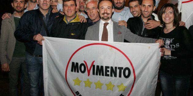 ARZANO, ITALY - 2015/05/28: The Movimento Cinque Stelle Arzano and citizens meet Sergio Puglia city spokesman...