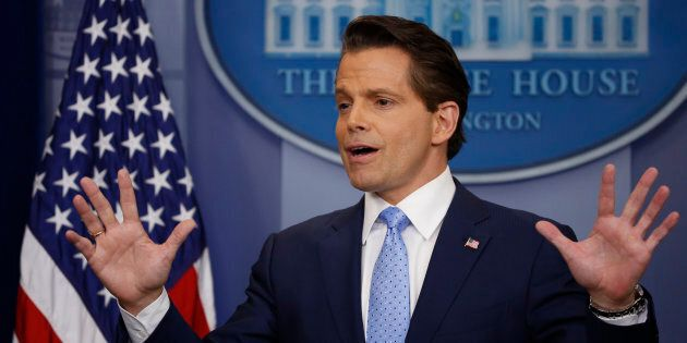 New White House Communications Director Anthony Scaramucci addresses the daily briefing at the White...