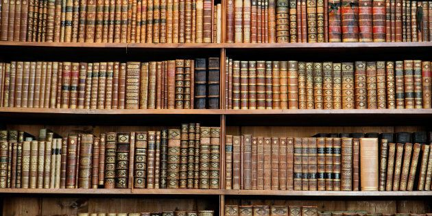 Old books in the Library of