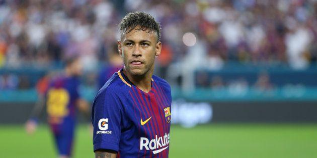 MIAMI GARDENS, FL - JULY 29: Neymar of FC Barcelona during the International Champions Cup 2017 match...