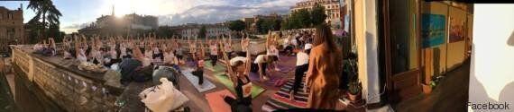 International Day of Yoga 2016. Musica, colori, yoga e meditazione nei giardini pensili dell'Auditorium...