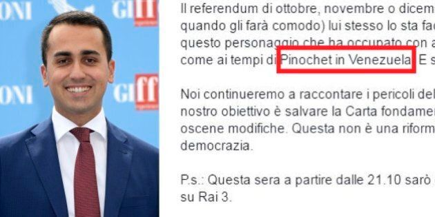 La gaffe di Luigi Di Maio: