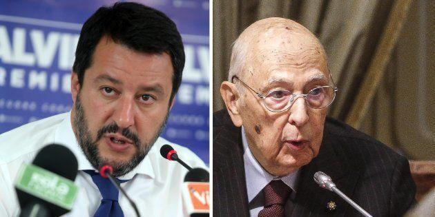 Matteo Salvini a Giorgio Napolitano: