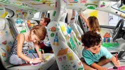 Un'azienda ha trovato un modo geniale per non far annoiare i bambini durante i viaggi in