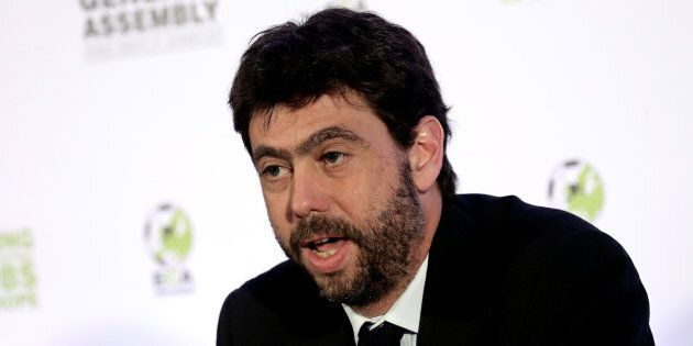 European Club Association (ECA) board member and President of Juventus Andrea Agnelli speaks during a...