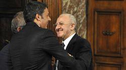 Referendum, Matteo Renzi difende De Luca: