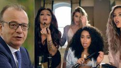 Rotondi va con le figlie al concerto delle popstar: