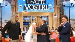 Magalli si scusa con Adriana Volpe in diretta tv (ma lei non è così
