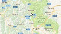 Scossa di terremoto di magnitudo 4.4 a L'Aquila. Ingv: