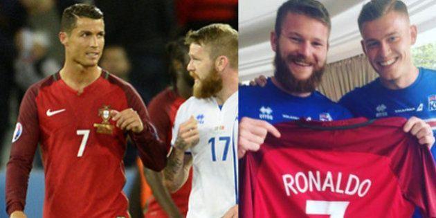 Cristiano Ronaldo negò la maglia a Gunnarsson. Ironia islandese: i suoi compagni gliela comprano e ci...
