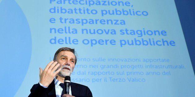 Il ministro dei Trasporti Graziano Delrio interviene al confronto ''Partecipazione, dibattito pubblico...