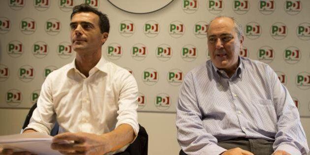 Goffredo Bettini con Andrea Orlando e Sandro Gozi con Matteo Renzi: scelte diverse in Campo