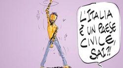 I vignettisti omaggiano dj Fabo e ogni parola è