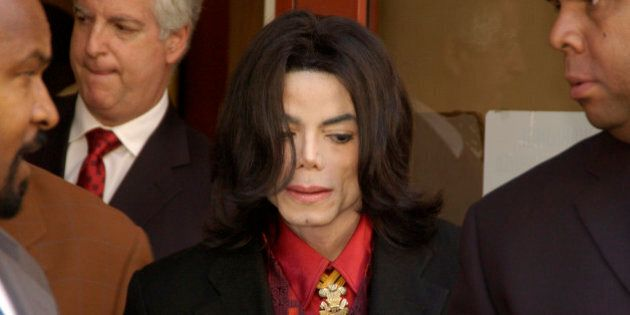 Michael Jackson departs Santa Barbara County Superior Court in Santa Maria, Calif., Wednesday, Feb. 23,...