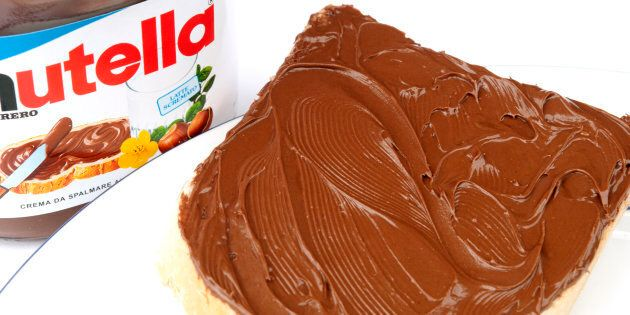 'SIENA, ITALY - April 22, 2012: Product shot of a container of Nutella hazelnut and cocoa