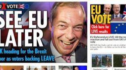 Brexit, i titoli dei siti inglesi. Il tabloid Sun esulta: