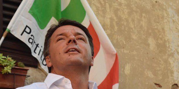 Il segretario del Partito Democratico, Matteo Renzi, alla festa dell'Unit� di Certaldo (Firenze), 04...