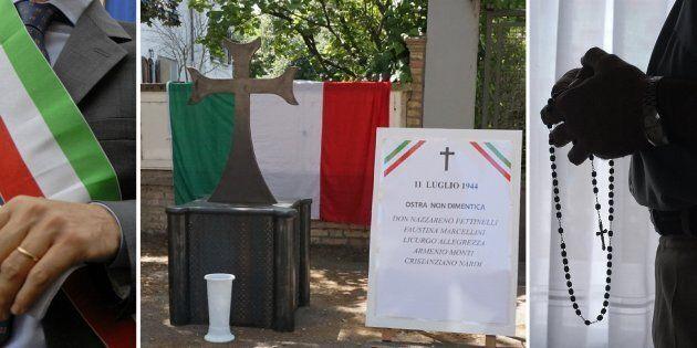 Il triste rituale di Ostra. L'omaggio di parroco, sindaco e Pd alle spie nazifasciste di fronte alla...