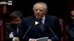 Il primo discorso di Ciampi: