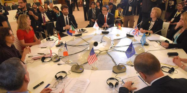 30/03/2017 Firenze, tavolo di lavoro al G7 della