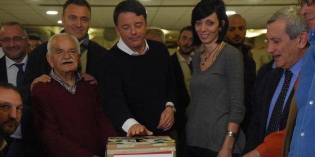 24/03/2017 Firenze, Matteo Renzi vota per le primarie del Partito