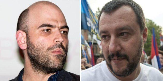Matteo Salvini contro Roberto Saviano: