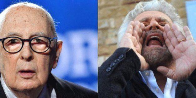 Giorgio Napolitano contro la politica dei click: