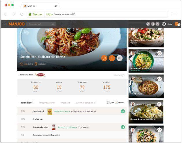 L'app Manjoo vi consiglia cosa cucinare e funziona come Spotify, ma è tutta