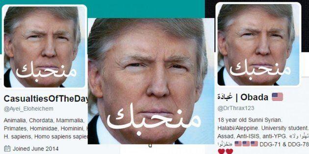 Molti siriani hanno cambiato la foto profilo, con un'immagine di Trump (ma non è come